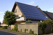 House with Solar panels on the roof, Wesel, Germany - Timm Sonnenschein - 21-09-2007