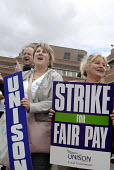 UNISON members on strike for fair pay in Wolverhampton - Timm Sonnenschein - 16-07-2008