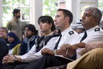 Police Officers during a public meeting against Birmingham Anti Muslim CCTV and ANPR Cameras - Timm Sonnenschein - 04-07-2010