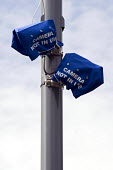 Bagged up ANPR surveillance �cameras installed to monitor vehicles entering and leaving Birmingham areas with a high �Muslim population. The anti terrorist scheme is under criticism and they are curre... - Timm Sonnenschein - 08-07-2010