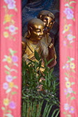 Small statue of an arahat disciple of the Buddha in a relief �at the Jade Buddha Temple, Shanghai - Timm Sonnenschein - 12-08-2010