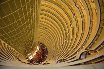Shanghai Hyatt Hotel atrium inside the �Jin Mao Tower - Timm Sonnenschein - Chinese,2010,2010s,ACE,architecture,arts,atrium,blocks,buildings,cities,city,culture,EBF,Economic,Economy,helix,High Rise,Hotel,HOTELS,Shanghai,spiral,Tower Block,urban