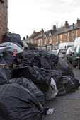 Backlog of rubbish in Birmingham streets piled up as refuse collectors work to rule since 22 December after a one day strike over 4000 pay cuts. - Timm Sonnenschein - 06-01-2011