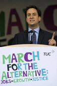 Ed Miliband, Leader of the Labour Party �speaking during the rally �of the March for the Alternative, London - Timm Sonnenschein - 2010s,2011,activist,activists,against,alternative.,and,anti,Austerity Cuts,CAMPAIGN,campaigner,campaigners,CAMPAIGNING,CAMPAIGNS,DEMONSTRATING,demonstration,DEMONSTRATIONS,for,Growth,Jobs,Justice,Labo