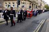 West Midland mayors and judges in a procession from Birmingham Cathedral to the Council House after The Annual Justice Service - Timm Sonnenschein - 09-10-2011
