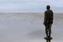 Another Place Sculpture by Antony Gormley, Crosby Beach, Merseyside. - Timm Sonnenschein - 14-04-2011