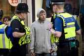 British Transport Police officers questioning young a man about an incident on New Street, Birmingham - Timm Sonnenschein - 22-03-2012