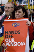 Strike by public sector workers over pensions. PCS members during a joint union rally outside Queen Elizabeth Hospital, Birmingham. - Timm Sonnenschein - 2010s,2012,austerity cuts,DISPUTE,DISPUTES,fair pensions,Hospital,HOSPITALS,INDUSTRIAL DISPUTE,industrial relations,member,member members,members,outside,PCS,people,picket,PICKETING,picketing picket l
