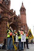 Strike by public sector workers over pensions. PCS picket line at Birmingham Magistrate Court. - Timm Sonnenschein - 10-05-2012