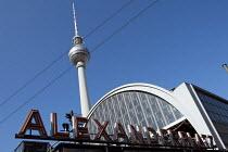 Fernsehturm TV Tower Alex and Alexanderplatz station, Berlin, tallest structure in Germany - Timm Sonnenschein - 03-09-2012