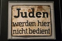 Juden werden hier nicht bedient, Jews are not served here, historic sign from Nazi Germany, Jewish Museum, Berlin, Germany - Timm Sonnenschein - 29-08-2012