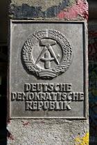 Deutsche Demokratische Republik, emblem of the German Democratic Republic, historic sign East Berlin, Germany - Timm Sonnenschein - 29-08-2012
