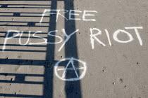 Free Pussy Riot graffiti - Timm Sonnenschein - 03-09-2012