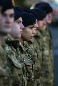 A female Royal Marine as soldiers gather on Broad Street for the Remembrance Day parade, Birmingham - Timm Sonnenschein - 11-11-2012