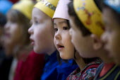 Reception class performing a Nativity play, Kings Heath Primary School, Birmingham - Timm Sonnenschein - 15-12-2012