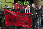 National Student Protest for free education, against cuts and the privatisation of student loans, University of Birmingham campus - Timm Sonnenschein - 29-01-2014