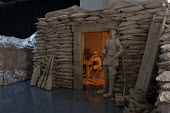 Battle of the Somme, life size WW1 trenches, a paper installation by first year Theatre, Performance and Event Design students, Birmingham City University - Timm Sonnenschein - 06-02-2014