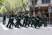 A unit of city based Red Army soldiers marching through Shanghai, China - Timm Sonnenschein - 10-04-2014