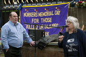Mary Pearson, Birmingham Trades Council speaking during International Workers' Memorial Day, St Philips Cathedral Grounds, Birmingham - Timm Sonnenschein - 28-04-2014