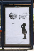 Anti Consumerist poster, replacing official adverts in an activist Brandalism campaign against the corporate take-over of public space, Birmingham - Timm Sonnenschein - 13-05-2014