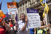Public sector workers strike over pay, pensions and workload, Strike rally, Victoria Square, Birmingham - Timm Sonnenschein - 10-07-2014