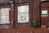 Karl Marx poster on an abandoned building, Moseley, Birmingham - Timm Sonnenschein - 11-07-2014
