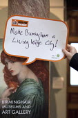 A Pre Raphaelite, Proserpine as the Empress of Hades, says make Birmingham a living wage city! Birmingham Museum and Art Gallery. Make Birmingham a Living Wage City. Becca Kirkpatrick, Citizens UK Bir... - Timm Sonnenschein - 2010s,2015,activist,activists,Birmingham,CAMPAIGN,campaigner,campaigners,CAMPAIGNING,CAMPAIGNS,DEMONSTRATING,demonstration,DEMONSTRATIONS,EARNINGS,employers,EQUALITY,Income,INCOMES,inequality,living w