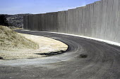 Israels security wall separating the Palestinian settlement, Abu Dis, and East Jerusalem.West Bank 2005 - Steven Langdon - 30-10-2005