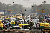 Traffic jam in New Delhi. - Tashi Tobgyal - 14-03-2008