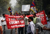 A Local Indian Youth front for Tibet protest against the oppression in Tibet. Tibetans in New Delhi protest on the 49th Tibetan Uprising Day. Since the illegal occupation of Tibet by China in 1959, Ti... - Tashi Tobgyal - 13-03-2008