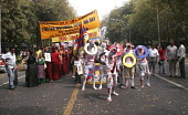 Tibetans in New Delhi protest on the 49th Tibetan Uprising Day. Since the illegal occupation of Tibet by China in 1959, Tibetans exiled have been voicing their concern over the menial state of social,... - Tashi Tobgyal - 13-03-2008