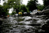 Flooded roads during the monsoon, in Delhi. - Tashi Tobgyal - 03-02-2009