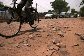 Bad roads in New Delhi, showing the poor infrastructure of the City - Tashi Tobgyal - 03-02-2009