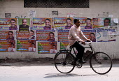 Election posters of politicians wishing festival greetings in New Delhi, India - Tashi Tobgyal - 05-05-2009