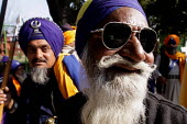 A group of Sikh Nihangs take part in an Election Campaign, New Delhi, India - Tashi Tobgyal - ,2000s,2009,Asia,asian,asians,BLACK,campaign,campaigning,CAMPAIGNS,democracy,Election,elections,India,indian,indian subcontinent,indians,male,man,men,New Delhi,people,person,persons,pol,political,POLI
