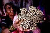 Women roll beedis (tendu rolled tobacco cigarettes) in Nasik, Maaharashtra. India. The Beedi industry is one of the largest in India - Tashi Tobgyal - 2000s,2009,Asia,asian,asians,beedi,beedies,bidi,bidis,biri,biris,bundle,bundles,by hand,capitalism,capitalist,cigarette,cigarettes,EARNINGS,EBF,Economic,Economy,employee,employees,Employment,EQUALITY,
