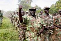 SPLA rebel soldiers training in Yei South Sudan. 2005 - Thomas Morley - 12-11-2005