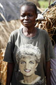 Woman soldiers with Princess Diana shirt among SPLA rebels training in Yei South Sudan. 2005 - Thomas Morley - 12-11-2005