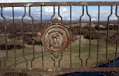 An old Soviet sign on the Inguri bridge, where Abkhazian Georgian refugees cross in to Abkhazia to work their land. They are only allowed over during the day where they undergo humiliating checks at C... - Thomas Morley - 03-01-2003
