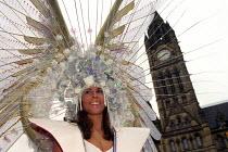 Lord Mayor's Parade, Manchester. - Len Grant - 2000s,2002,ACE arts culture & entertainment,albert,BAME,BAMEs,Black,BME,bmes,costume,Council Services,Council Services,DANCE,dancer,DANCERS,DANCING,delights,diversity,dress,ethnic,ethnicity,festival,f