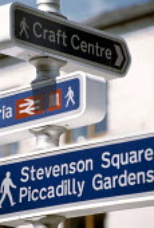 Signpost, Northern Quarter, Manchester. - Len Grant - 01-06-2001