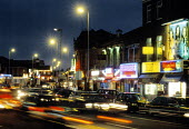 Curry Mile, Wilmslow Road, Rusholme Manchester. - Len Grant - 23-09-2001