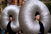 Performers at the x.trax street festival Manchester. - Len Grant - 06-05-2001