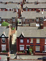 Terraced housing, Moss Side, Manchester. - Len Grant - 20-05-2003