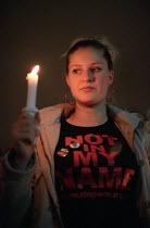 Stop the War on Iraq Candlelight Vigil, Trafalgar Square - Paul Mattsson - 2000s,2003,activist,activists,adolescence,adolescent,adolescents,anti war,Antiwar,CAMPAIGN,campaigner,campaigners,CAMPAIGNING,CAMPAIGNS,Candle,Candlelit,Candles,DEMONSTRATING,DEMONSTRATION,DEMONSTRATI