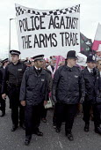Protest against DSEI Arms Fair, London Docklands, UK - Paul Mattsson - 11-09-2001