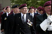 British and Canadian airborne veterans at local small town D Day sixtieth anniversary commemoration ceremony, Trouarn, Normandy, France - Paul Mattsson - 06-06-2004