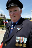 French resistance war veteran at local small town D Day sixtieth anniversary commemoration ceremony, Honfleur, Normandy, France - Paul Mattsson - 06-06-2004