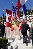 British, Belgian and French resistance war veterans at local small town D Day sixtieth anniversary commemoration ceremony, Honfleur, Normandy, France - Paul Mattsson - 06-06-2004
