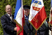 French resistance war veterans at local small town D Day sixtieth anniversary commemoration ceremony, Honfleur, Normandy, France - Paul Mattsson - 06-06-2004